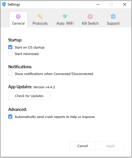SaferVPN Settings