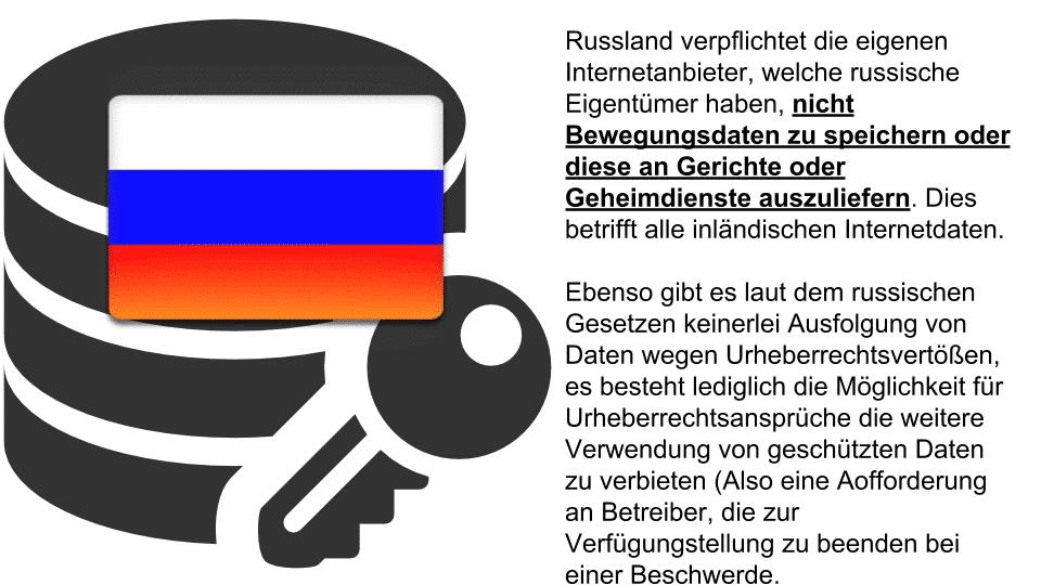 Russland ist sicher bei der Verwendung von VPN