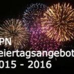 2016 Feiertagsangebote aller VPN Anbieter